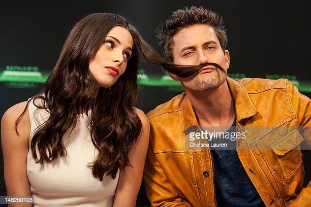 Actors Ashley Greene and Jackson Rathbone attend the Movies On Demand lounge at Comic Con at Hard Rock Hotel San Diego on July 12 2012 in San Diego...
