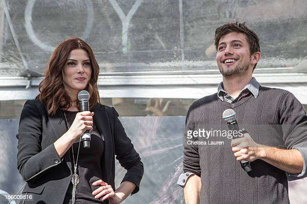 Actors Ashley Greene and Jackson Rathbone attend the Twilight fan camp concert at LA LIVE on November 10 2012 in Los Angeles California