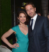 Actors Ashley Judd and Gerard Butler attend the after party for the premiere of FilmDistrict's 'Olympus Has Fallen' at Lure on March 18 2013 in...