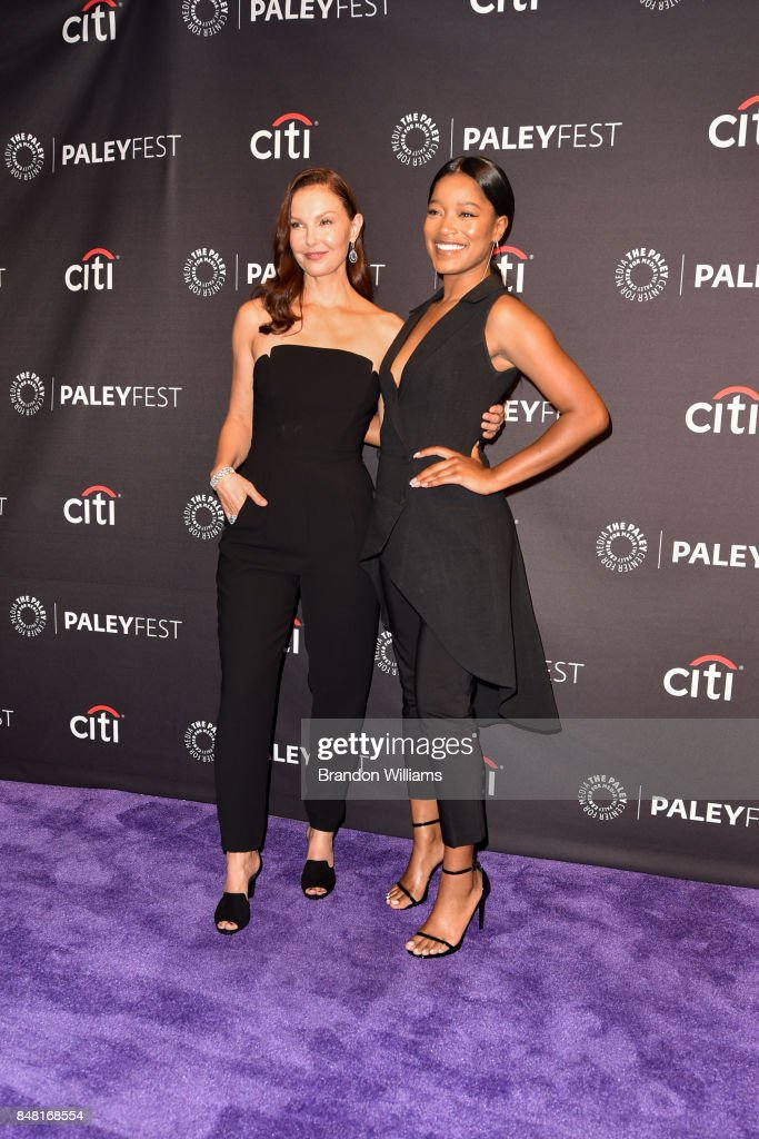 Actors Ashley Judd (L) and Keke Palmer attends For Media's 11th Annual PaleyFest Fall TV Previews for EPIX at The Paley Center for Media on September 16, 2017 in Beverly Hills, California.