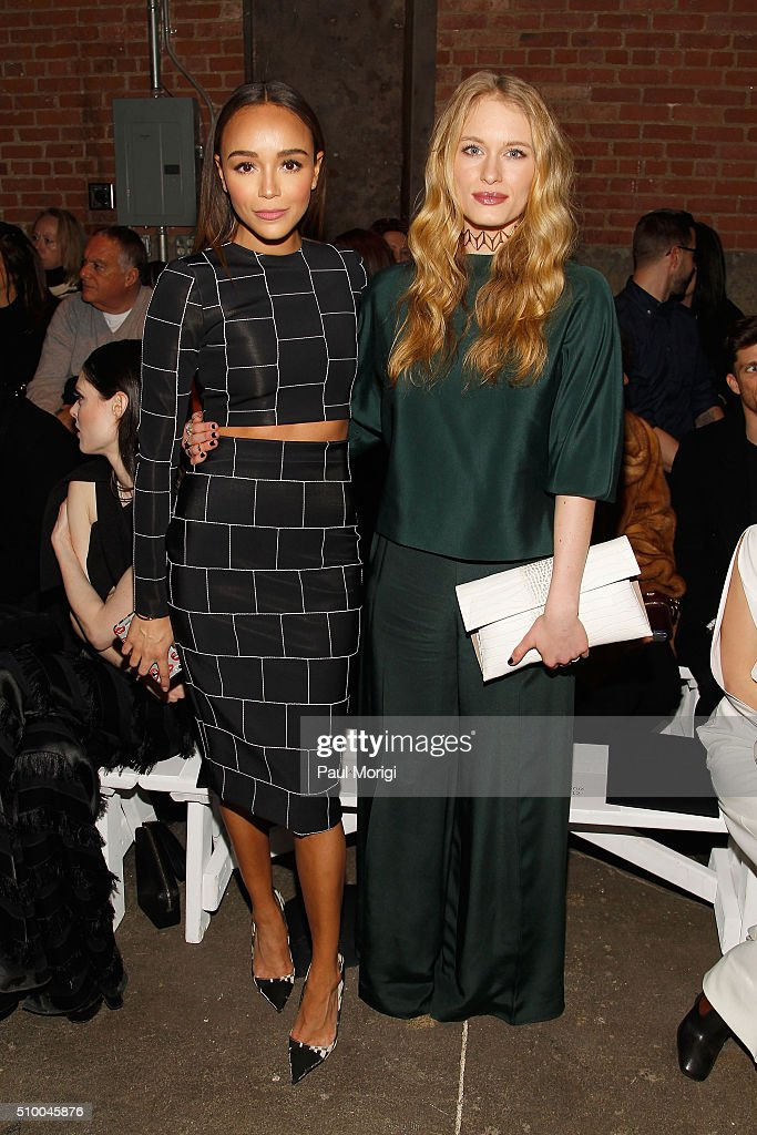 Actors <a gi-track='captionPersonalityLinkClicked' href=/galleries/search?phrase=Ashley+Madekwe&family=editorial&specificpeople=5526423 ng-click='$event.stopPropagation()'>Ashley Madekwe</a> (L) and <a gi-track='captionPersonalityLinkClicked' href=/galleries/search?phrase=Leven+Rambin&family=editorial&specificpeople=545914 ng-click='$event.stopPropagation()'>Leven Rambin</a> attend the Christian Siriano Fall 2016 fashion show during New York Fashion Week at ArtBeam on February 13, 2016 in New York City.