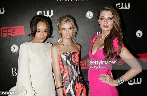 Actors Ashley Madekwe Sara Paxton and Mischa Barton attend the CW Network celebration of its new series 'The Beautiful Life TBL' at the Simyone...
