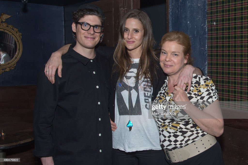 Actors Ashley Springer, Genevieve Hudson, and Catherine Curtain attend the 'A Wife Alone' Premiere Party at Grey Lady on June 11, 2014 in New York City.