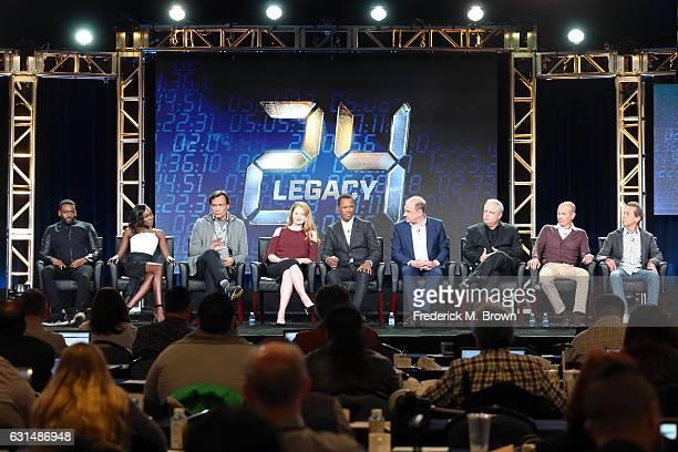 Actors Ashley Thomas Anna Diop Jimmy Smits Miranda Otto and Corey Hawkins Cocreators/Executive producers Evan Katz and Manny Coto and Executive...