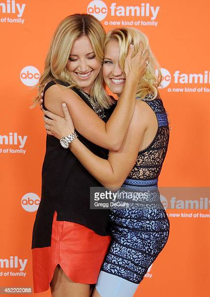 Actors Ashley Tisdale and Emily Osment arrive at the 2014 Television Critics Association Summer Press Tour Disney/ABC Television Group at The Beverly...