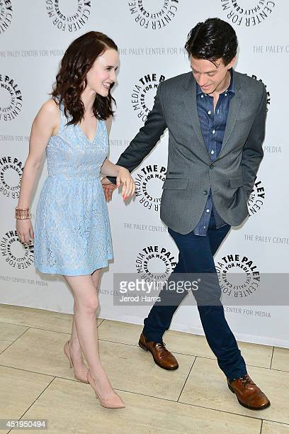 Actors Ashley Zukerman and Rachel Brosnahan arrive at the Paley Center for Media Presents an evening with WGN America's 'Manhattan' at the Paley...