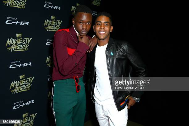 Actors Ashton Sanders and Jharrel Jerome attend the 2017 MTV Movie And TV Awards After Party at The Shrine Auditorium on May 7 2017 in Los Angeles...