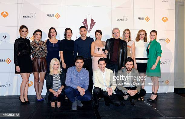 Actors attend the presentation of 'Galerias Velvet' at Ritz Hotel on February 14 2014 in Madrid Spain