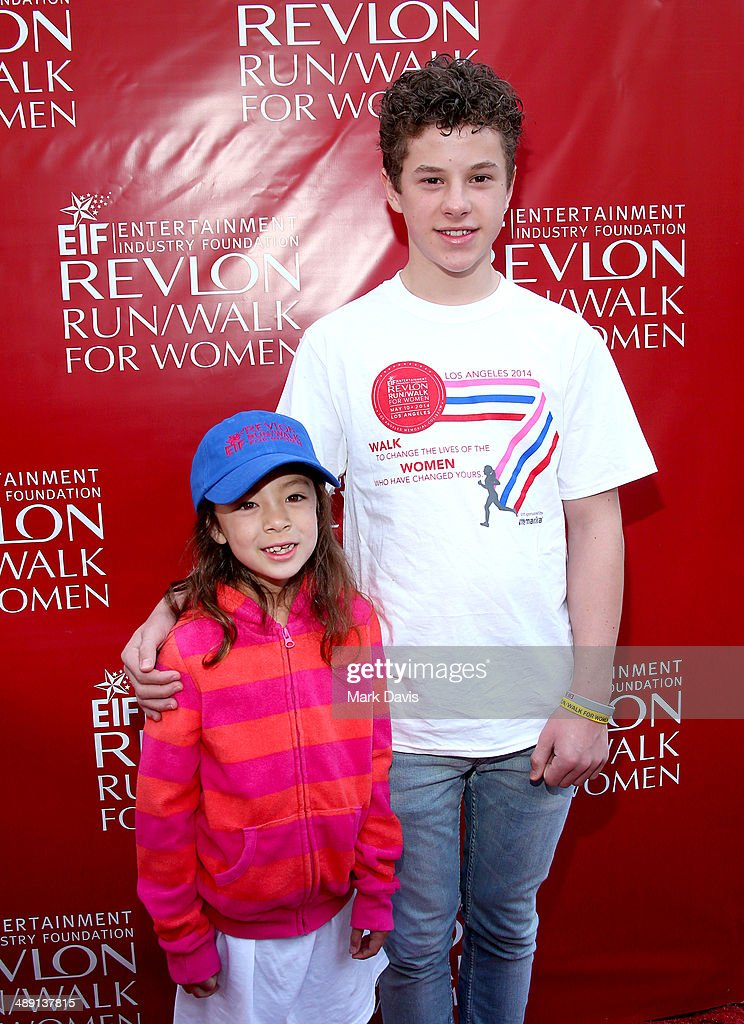 Actors <a gi-track='captionPersonalityLinkClicked' href=/galleries/search?phrase=Aubrey+Anderson-Emmons&family=editorial&specificpeople=8203980 ng-click='$event.stopPropagation()'>Aubrey Anderson-Emmons</a> and <a gi-track='captionPersonalityLinkClicked' href=/galleries/search?phrase=Nolan+Gould&family=editorial&specificpeople=5691358 ng-click='$event.stopPropagation()'>Nolan Gould</a> attend the 21st Annual EIF Revlon Run Walk For Women on May 10, 2014 in Los Angeles, California.