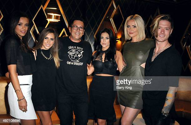 Actors Aubrey Cleland Haley Pharo President and Founder of Boo2Bullying Dimitri Halkidis actresses Cassie Scerbo Katie Welch and actor Nash...