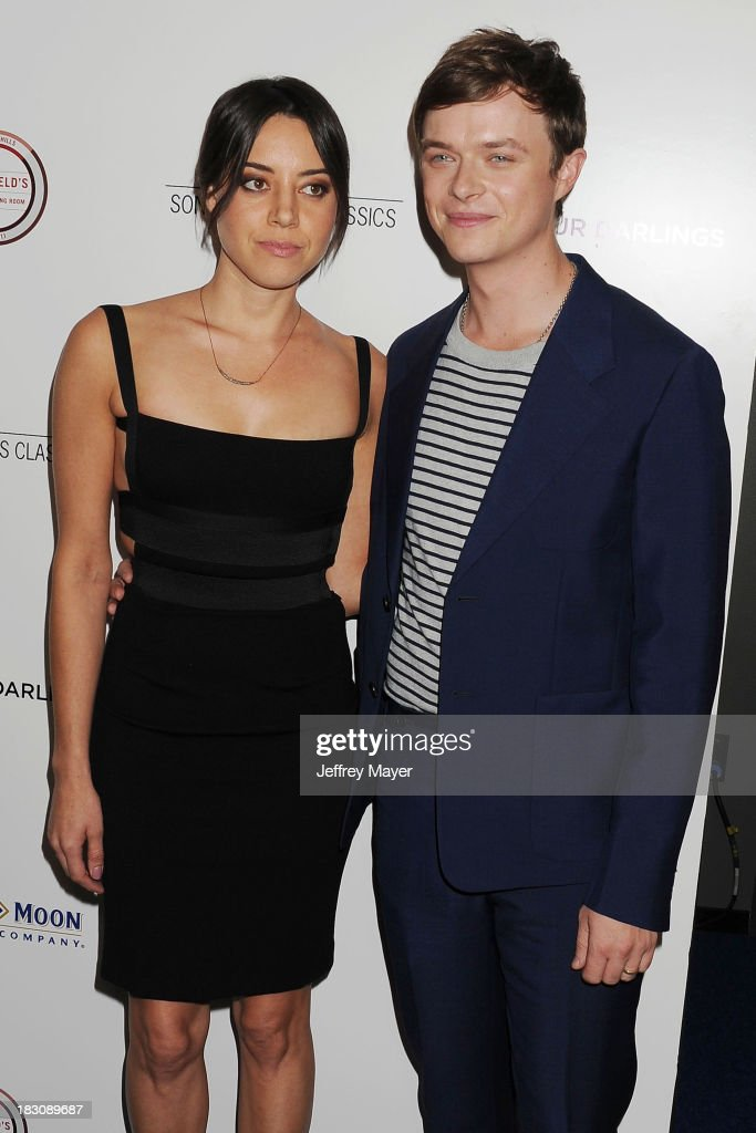 Actors <a gi-track='captionPersonalityLinkClicked' href=/galleries/search?phrase=Aubrey+Plaza&family=editorial&specificpeople=5299268 ng-click='$event.stopPropagation()'>Aubrey Plaza</a> (L) and <a gi-track='captionPersonalityLinkClicked' href=/galleries/search?phrase=Dane+DeHaan&family=editorial&specificpeople=6890481 ng-click='$event.stopPropagation()'>Dane DeHaan</a> arrive at the Los Angeles premiere of 'Kill Your Darlings' at the Writers Guild Theater on October 3, 2013 in Beverly Hills, California.