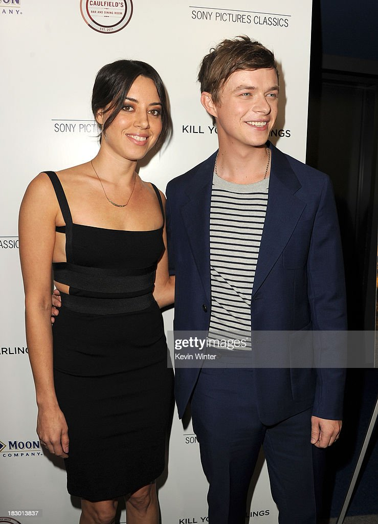 Actors <a gi-track='captionPersonalityLinkClicked' href=/galleries/search?phrase=Aubrey+Plaza&family=editorial&specificpeople=5299268 ng-click='$event.stopPropagation()'>Aubrey Plaza</a> and <a gi-track='captionPersonalityLinkClicked' href=/galleries/search?phrase=Dane+DeHaan&family=editorial&specificpeople=6890481 ng-click='$event.stopPropagation()'>Dane DeHaan</a> attend the premiere of Sony Pictures Classics' 'Kill Your Darlings' at Writers Guild Theater on October 3, 2013 in Beverly Hills, California.