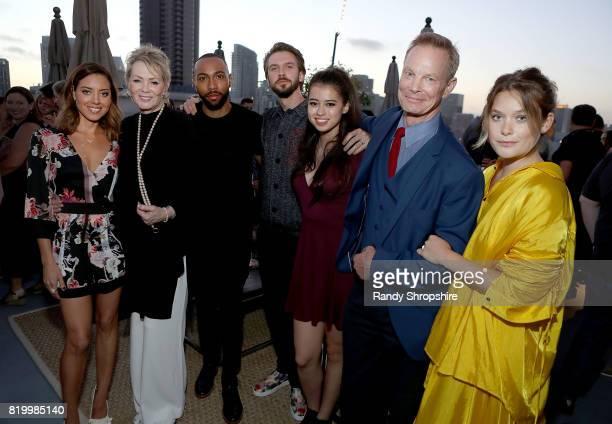 Actors Aubrey Plaza Jean Smart Jeremie Harris Dan Stevens Amber Midthunder Bill Irwin and Rachel Keller attend the Entertainment Weekly and FX After...