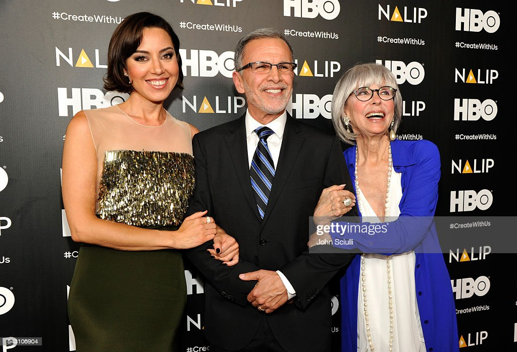 Actors <a gi-track='captionPersonalityLinkClicked' href=/galleries/search?phrase=Aubrey+Plaza&family=editorial&specificpeople=5299268 ng-click='$event.stopPropagation()'>Aubrey Plaza</a>, <a gi-track='captionPersonalityLinkClicked' href=/galleries/search?phrase=Tony+Plana&family=editorial&specificpeople=660561 ng-click='$event.stopPropagation()'>Tony Plana</a>, and <a gi-track='captionPersonalityLinkClicked' href=/galleries/search?phrase=Rita+Moreno&family=editorial&specificpeople=210549 ng-click='$event.stopPropagation()'>Rita Moreno</a> attend the NALIP 2016 Latino Media Awards at Dolby Theatre on June 25, 2016 in Hollywood, California.