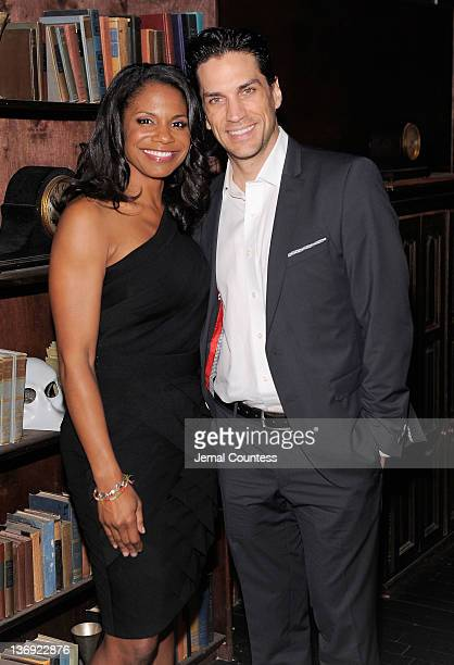Actors Audra McDonald and Will Swenson attend 'The Gershwins' Porgy and Bess' Broadway opening night after party at The McKittrick Hotel on January...
