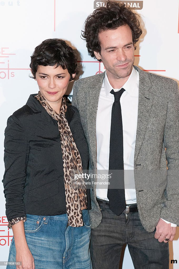 Actors Audrey Tautou and Romain Duris attends the 'Casse Tete Chinois' Paris Premiere at Le Grand Rex on November 10, 2013 in Paris, France.
