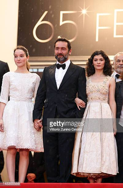 Actors Audrey Tautou Gilles Lellouche and Anais Demoustier attend the Closing Ceremony and 'Therese Desqueyroux' premiere during the 65th Annual...