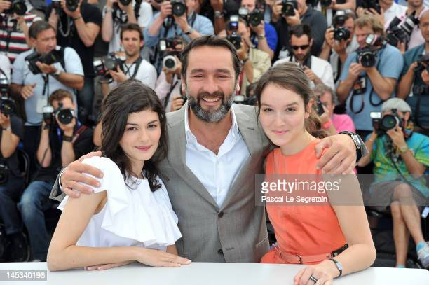 Actors Audrey Tautou Gilles Lellouche and Anais Demoustier pose at the 'Therese Desqueyroux' Photocall during the 65th Annual Cannes Film Festival on...