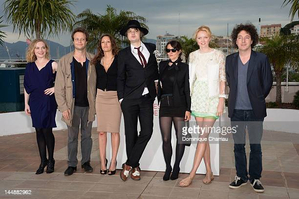 Actors August Diehl Karole Rocher Pete Dohertydirector Sylvie Verheyde and actress Lily Cole attend the 'Confession Of A Child Of The Century'...