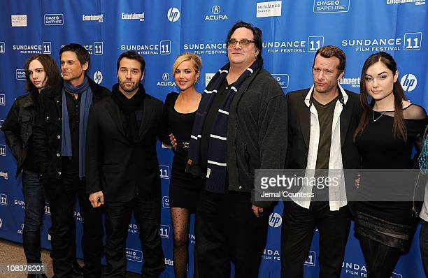 Actors August Emerson Rob LoweJeremy PivenArielle Kebbel driector Mark PellingtonThomas Jane and Sasha Grey attends the 'I Melt With You' Premiere at...
