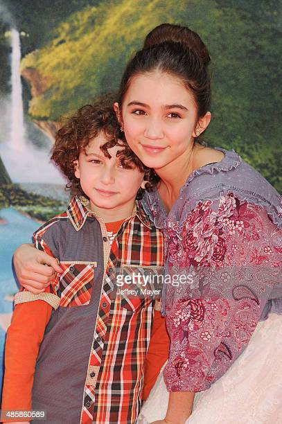 Actors August Maturo and Rowan Blanchard attend the premiere of DisneyToon Studios' 'The Pirate Fairy' at Walt Disney Studios on March 22 2014 in...