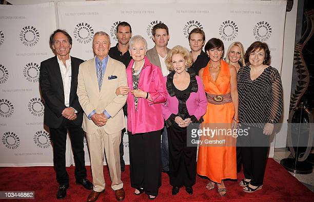 Actors Austin Peck Trent Dawson Van Hansis executive producer Christopher Goutman actors Don Hastings Kathy Hays Eileen Fulton Colleen Zenk Terry...