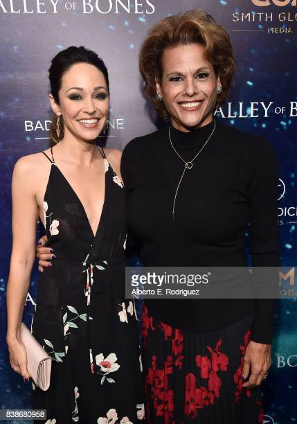 Actors Autumn Reeser and Alexandra Billings attend the world premiere of 'Valley Of Bones' at ArcLight Hollywood on August 24 2017 in Hollywood...