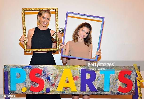 Actors Ava DelucaVerley and Jenna Elfman attend PS ARTS Presents LA Modernism Opening Night at 3LABS on April 25 2014 in Culver City California
