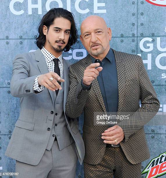Actors Avan Jogia and Sir Ben Kingsley arrive at Spike TV's 'Guys Choice 2015' at Sony Pictures Studios on June 6 2015 in Culver City California