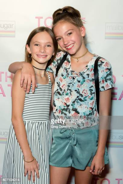 Actors Avery Hewitt and Jayden Bartels arrive for the 'To The Beat' Special Screening at The Colony Theatre on August 6 2017 in Burbank California