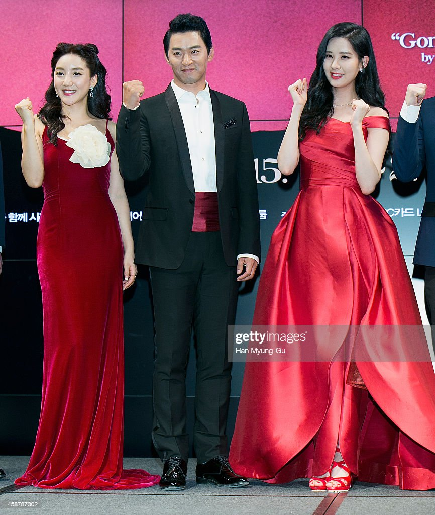 Actors Bada (Ba Da), Joo Jin-Mo and Seohyun of South Korean girl group Girls' Generation attend the press conference for musical 'Gone With The Wind' on November 10, 2014 in Seoul, South Korea. The musical will open on January 09, 2015 in South Korea.