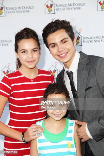 Actors Bailee Madison and Jake T Austin attends Variety's Power of Youth presented by Hasbro Inc and generationOn at Universal Studios Backlot on...