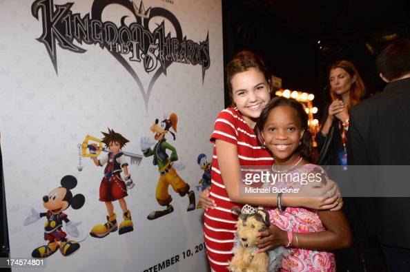 Actors Bailee Madison and Quvenzhane Wallis attend Variety's Power of Youth presented by Hasbro Inc and generationOn at Universal Studios Backlot on...