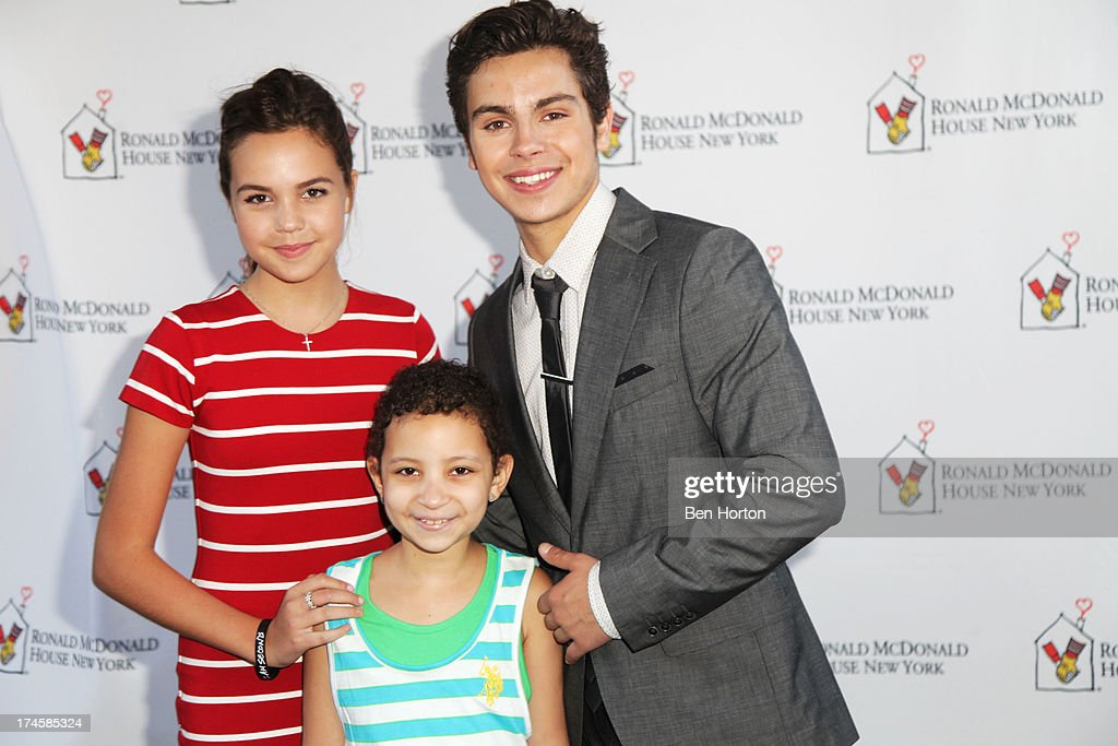 Actors <a gi-track='captionPersonalityLinkClicked' href=/galleries/search?phrase=Bailee+Madison&family=editorial&specificpeople=4136620 ng-click='$event.stopPropagation()'>Bailee Madison</a> (L), guest and <a gi-track='captionPersonalityLinkClicked' href=/galleries/search?phrase=Jake+T.+Austin&family=editorial&specificpeople=709221 ng-click='$event.stopPropagation()'>Jake T. Austin</a> attend Variety's Power of Youth presented by Hasbro, Inc. and generationOn at Universal Studios Backlot on July 27, 2013 in Universal City, California.