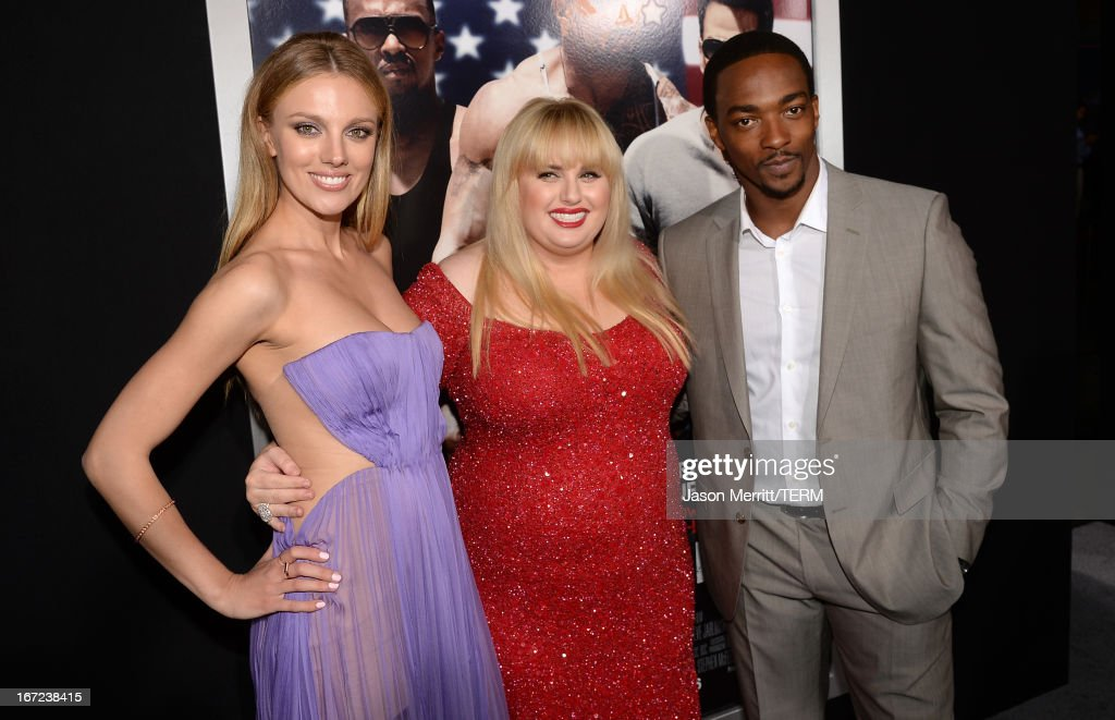 Actors <a gi-track='captionPersonalityLinkClicked' href=/galleries/search?phrase=Bar+Paly&family=editorial&specificpeople=5598732 ng-click='$event.stopPropagation()'>Bar Paly</a>, <a gi-track='captionPersonalityLinkClicked' href=/galleries/search?phrase=Rebel+Wilson&family=editorial&specificpeople=5563104 ng-click='$event.stopPropagation()'>Rebel Wilson</a> and <a gi-track='captionPersonalityLinkClicked' href=/galleries/search?phrase=Anthony+Mackie&family=editorial&specificpeople=206212 ng-click='$event.stopPropagation()'>Anthony Mackie</a> arrive at the premiere of Paramount Pictures' 'Pain & Gain' at TCL Chinese Theatre on April 22, 2013 in Hollywood, California.
