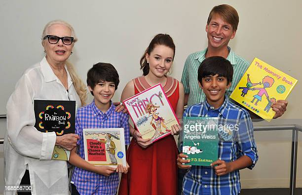 Actors Barbara Bain Joshua Rush Kaitlyn Dever Karan Brar and Jack McBrayer attend the Screen Actors Guild Foundation 20 Years Of BookPALS celebration...