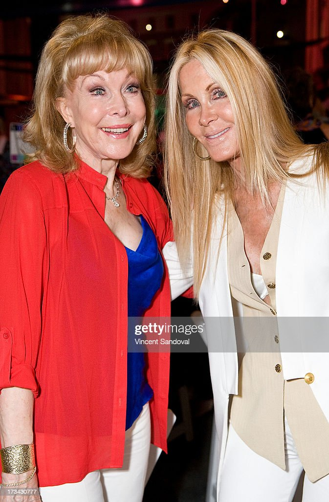 Actors <a gi-track='captionPersonalityLinkClicked' href=/galleries/search?phrase=Barbara+Eden&family=editorial&specificpeople=206974 ng-click='$event.stopPropagation()'>Barbara Eden</a> and <a gi-track='captionPersonalityLinkClicked' href=/galleries/search?phrase=Joan+Van+Ark&family=editorial&specificpeople=625430 ng-click='$event.stopPropagation()'>Joan Van Ark</a> attend the Concern Foundation block party at Paramount Studios on July 13, 2013 in Hollywood, California.