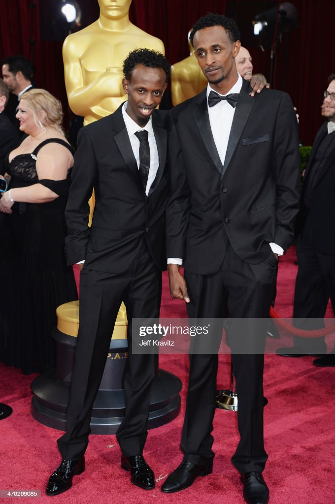 Actors <a gi-track='captionPersonalityLinkClicked' href=/galleries/search?phrase=Barkhad+Abdi&family=editorial&specificpeople=11418442 ng-click='$event.stopPropagation()'>Barkhad Abdi</a> (L) and <a gi-track='captionPersonalityLinkClicked' href=/galleries/search?phrase=Faysal+Ahmed+-+Somali+Actor&family=editorial&specificpeople=11423774 ng-click='$event.stopPropagation()'>Faysal Ahmed</a> attend the Oscars held at Hollywood & Highland Center on March 2, 2014 in Hollywood, California.
