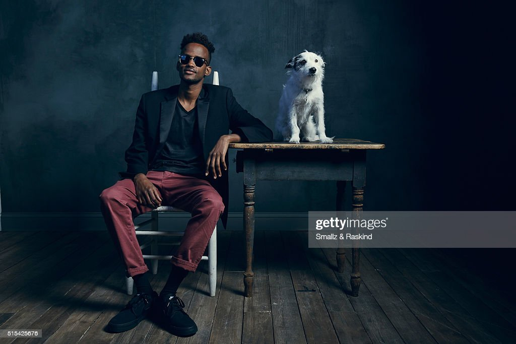 Actors Barkhad Abdirahman and Ayla of 'A Stray' are photographed in the Getty Images SXSW Portrait Studio powered by Samsung at the Samsung Studio on March 13, 2016 in Austin, Texas.