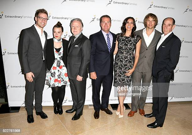 Actors Barrett Foa Renee Felice Smith writer Shane Brennan actors Chris O'Donnell Daniela Ruah Eric Christian Olsen and Miguel Ferrer arrive at the...