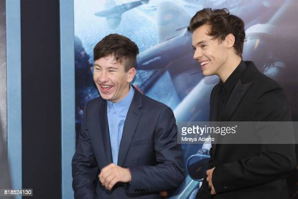 Actors Barry Keoghan and Harry Styles attend the 'DUNKIRK' New York Premiere on July 18 2017 in New York City