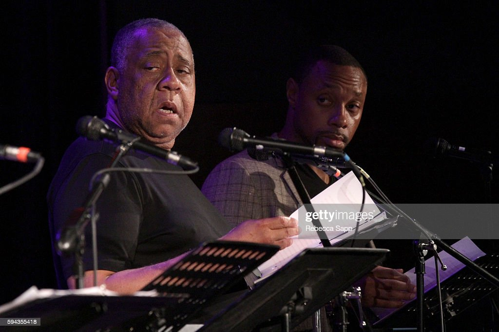 Actors Barry Shabaka Henley and Dorian Missick perform at A Tribute To Langston Hughes Stories Poems Jazz The Blues Presented by the GRAMMY Museum...