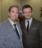 Actors Beau Bridges and Michael Sheen arrive to an exclusive conversation with the cast of Showtime's 'Masters Of Sex' at Leonard H Goldenson Theatre...
