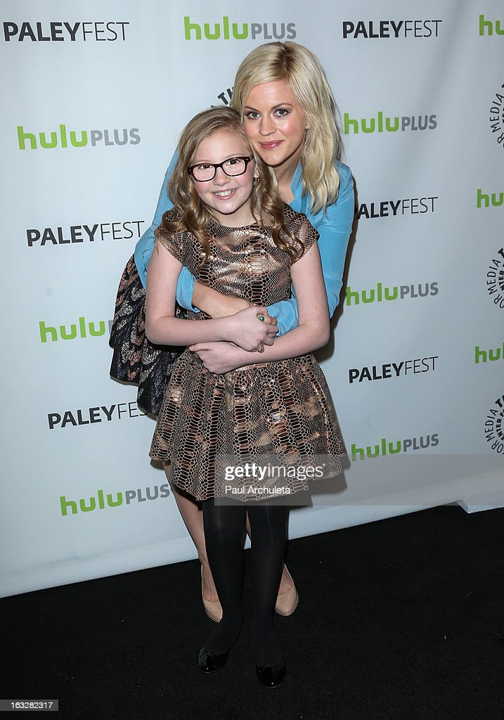 Actors Bebe Wood (L) and Georgia King attend the 30th annual PaleyFest featuring the cast of 'The New Normal' at Saban Theatre on March 6, 2013 in Beverly Hills, California.