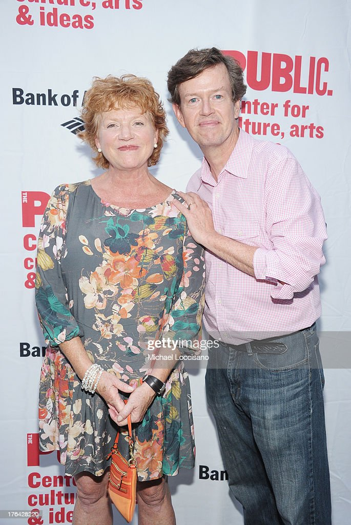 Actors Becky Ann Baker and husband <a gi-track='captionPersonalityLinkClicked' href=/galleries/search?phrase=Dylan+Baker&family=editorial&specificpeople=555989 ng-click='$event.stopPropagation()'>Dylan Baker</a> attend The Public Theater's 'Love's Labour's Lost' Opening Nght at Delacorte Theater on August 12, 2013 in New York City.
