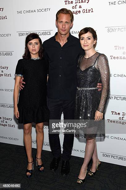 Actors Bel Powley and Alexander Skarsgard and director Marielle Heller attend the screening of Sony Pictures Classics 'The Diary Of A Teenage Girl'...