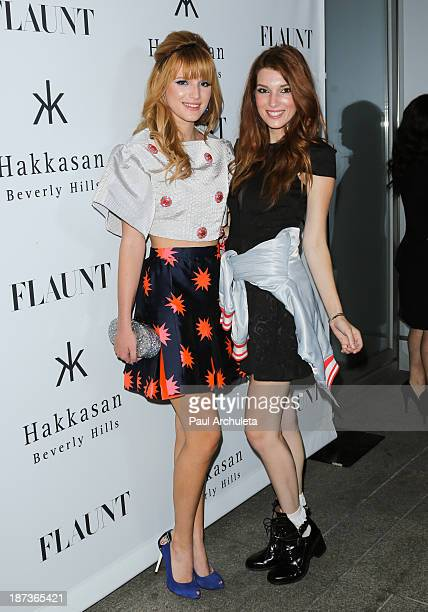 Actors Bella Thorne and Dani Thorne attend Flaunt magazine En Garde issue launch party on November 7 2013 in Beverly Hills California