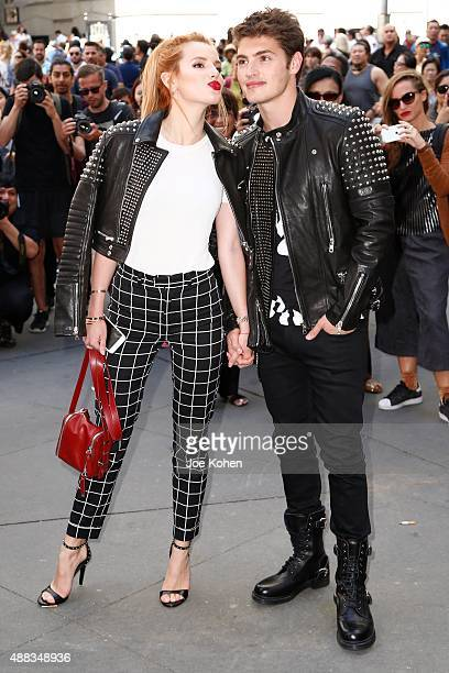 Actors Bella Thorne and Gregg Sulkin attend Diesel Black Gold Spring show during 2016 New York Fashion Week on September 15 2015 in New York City