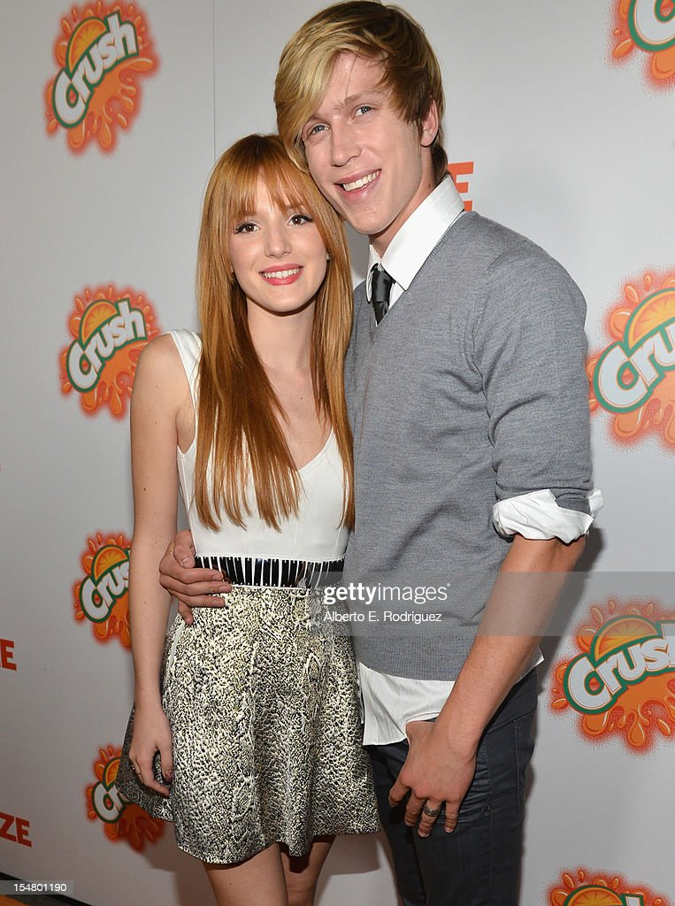Actors Bella Thorne and Tristan Klier arrive to the premiere of Paramount Pictures' 'Fun Size' at Paramount Theater on the Paramount Studios lot on October 25, 2012 in Hollywood, California.
