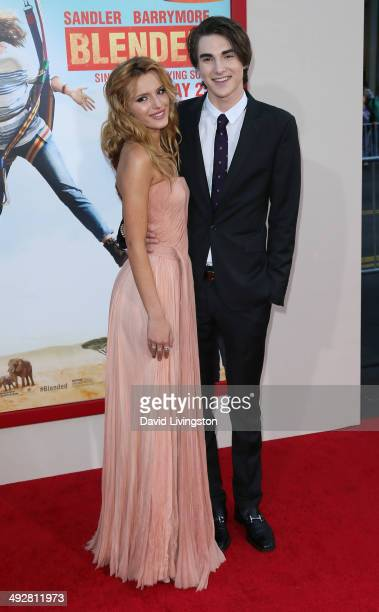 Actors Bella Thorne and Zak Henri attend the Los Angeles premiere of 'Blended' at the TCL Chinese Theatre on May 21 2014 in Hollywood California